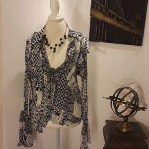 Sunny leigh blouse button down top